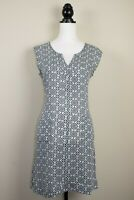 First Avenue Navy Blue, White Mosaic Print Shift Dress with Pockets BNWT Size 12