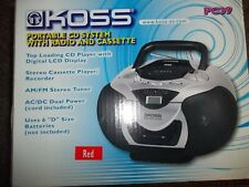koss Portable Compact Disc Player cd/radio/cassette- Portable Cd Player=Radio