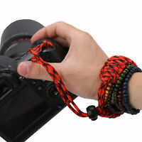FOR DSLR Camera Wrist Strap Braided Weave Lanyard Adjustable Bracelet Rope