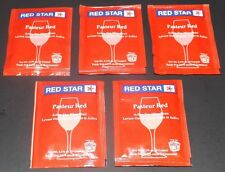5 Packs Red Star Premier Rouge (formerly Pasteur Red) Wine Yeast, Free Shipping