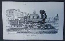 Nh Postcard Mogul Locomotive Manchester Works Nh Steam Engine unposted