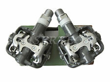 New Wellgo WPD-801 Alloy MTB Road SPD Clipless Bicycle Bike Pedals Gray