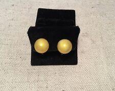 Einar Modahl Norway Vintage Sterling Silver Yellow Enamel Modernist Earrings