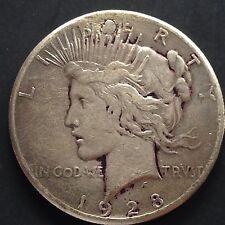 USA 1928 P Peace Dollar Silber Philadelphia Selten VF Details 3276