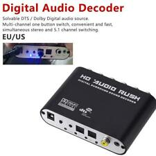 Digital DTS AC3 Optical To Analog 5.1CH Audio Sound Decoder Coaxial To 6RCA Hot