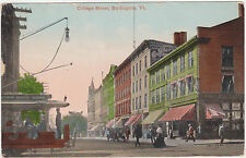 Burlington,Vermont,College Street,Used,1914