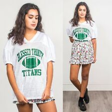 WOMENS VINTAGE 90'S WHITE AMERICAN FOOTBALL COLLEGE MESH JERSEY V-NECK TITANS 16