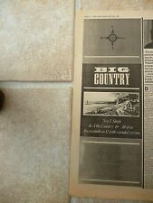 "BIG COUNTRY - 7"" SINGLE & 1983 TOUR DATES, B&W N.M.E. ADVERT PICTURE 16"" X 6"""