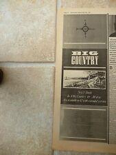 "BIG COUNTRY - 7"" SINGLE & 1983 TOUR DATES, B&W N.M.E. ADVERT PICTURE 16"" X 6"""
