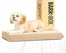 Barkbox Memory Foam Dog Bed Mattress Orthopedic Relief Small Sand (Damaged Box)