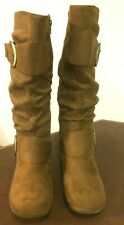 Journee Collection Jester-01 Camel Size 7 Knee-High Boots