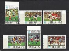 LIBERIA - 807 - 812 - MNH - 1978 -11TH WORLD CUP SOCCER CHAMPIONSHIPS, ARGENTINA