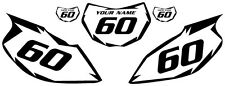 1997-2005 Yamaha TTR600 Pre-Printed White Backgrounds Black Shock Series