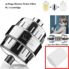 15 Stage Shower Water Filter Softener+1Filter Cartridge Handheld Shower Head Set