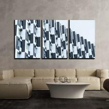 "Wall26 - Contemporary Architecture - Canvas Art Wall Decor - 24""x36""x3 Panels"