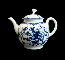 Royal Worcester Dr. Wall Porcelain Blue & White Teapot, circa 1760