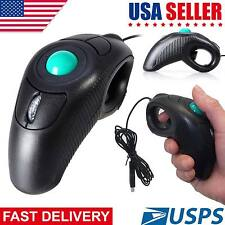 Latest Wireless Trackball Mouse Finger HandHeld USB Mice for Tablet PC Laptop US