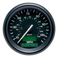Racetech 80mm Speedometer/Speedo Gauge 0-130mph, Stepper Motor Black Dial Race