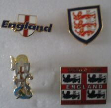 ENGLAND Football Pin Badges x 4 LOT No3 includes 3 x LIONS, WORLD CUP 2002