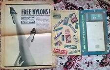 2 Vintage Ads Advertising 1950s 1960s Colgate Dental Cream Toothpaste Pharmacy