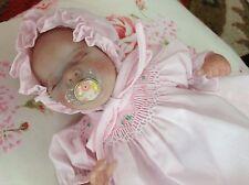 Tiny baby micro preemie reborn Wee Patience Laura Lee-Eagles, body plate, paci