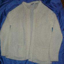 Zado Vintage Sweater 100% Acrylic Cardigan Jacket White Medium M