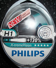 PHILIPS H1 XTREME VISION UPGRADE BULBS TWIN H1 X-TREME VISION H1+130%MORE LIGHT