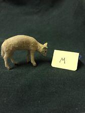 Vintage Tiny Flocked Standing German Miniature Christmas Sheep W/ Head Down -M