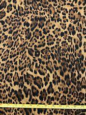 CHEETAH Leopard 100% Cotton Fabric Animal Cat Print 18