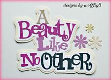 CRAFTECAFE GIRL BEAUTY TITLE paper piecing premade scrapbook page diecut WOLFFEY