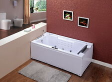 WHIRLPOOL baignoire avec jets de massage LED - Chute d' EAU RADIO SPA lxw669