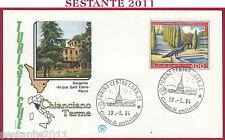 ITALIA FDC FILAGRANO PROPAGANDA TURISTICA CHIANCIANO TERME 1984 TORINO Y605