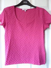 Per Una Semi Fitted Cotton Blend Short Sleeve Women's Tops & Shirts