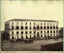 2 Photos Albuminés Catania Catane et Pompéï Italie Italia Vers 1870