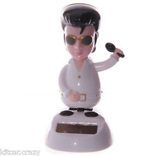 NOVELTY SOLAR POWERED DANCING ELVIS, DASHBOARD TOY, HOME OR CAR