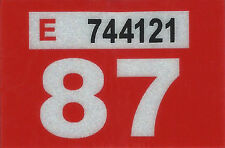 1987 WASHINGTON Vinyl Sticker Decal -CAR or TRUCK License Plate Reg. TAB TAG-New