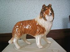 "Beautiful Rough Collie Sable & White Gloss Finish 4 3/8"" Tall x 5 1/4"" Long"