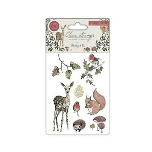 Winter Woodland Cling Stamps Animals Craft Consortium clear stamp CCSTMP003