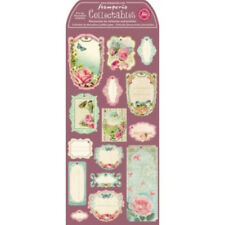 Stamperia Pre Cut Chipboard Labels Vintage Rose Collection Butterfies Craft