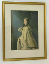 The Bridesmaid Antique George Baxter Print Framed Picture Victorian