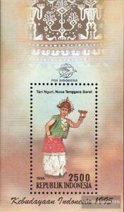 Indonesia Bloque 105 (edición completa) nuevo 1995 Danzas el Provincias