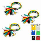 30pc Metered Colored Insulating Test Lead Cable Set Double Ended Alligator Clips