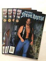 Lot Of 4 WWF STONE COLD STEVE AUSTIN CHAOS COMICS 1999 #1 2 3 4 WWE