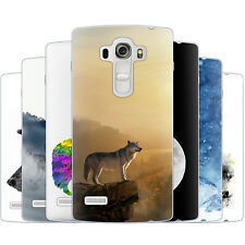 Dessana Wolf Wolves TPU Silicone Protective Cover Phone Case Cover For LG