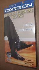 NEW Carolon Health Unisex Compression Support 281504 Sock Class 1 Size E Black