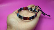 Hmong Style Woven fabric Friendship Bracelet handicraft Tribal hippie hobo 1pcs