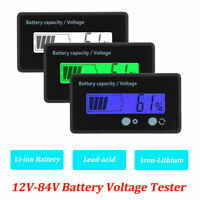 12-84V LCD Battery Capacity Voltage Tester Meter Monitor Voltmeter Indicator SS