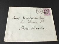 Benjamin Goodfellow 1893 Manchester stamps cover Ref R28742