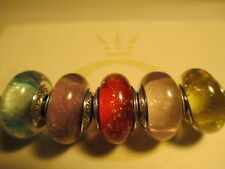 5 Authentic Pandora Silver 925 Ale Disney Princess Shimmer Collection Bead Charm