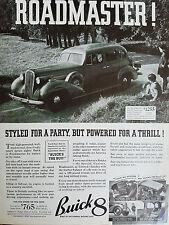 1936 Buick 8 Roadmaster Series 80 Six Passenger Sedan Car  Ad